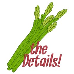 Asparagus The Details embroidery design