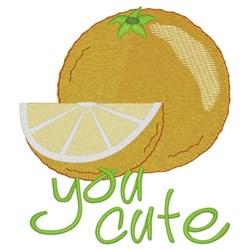 Orange You Cute embroidery design