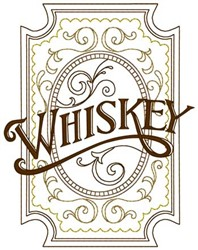 Whiskey embroidery design