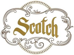 Scotch embroidery design