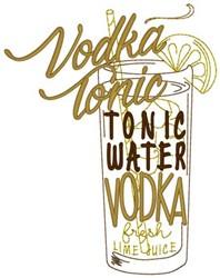 Vodka Tonic embroidery design