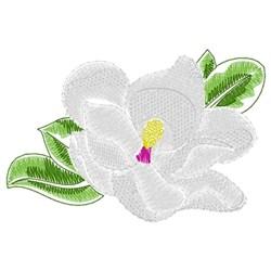 Magnolia embroidery design