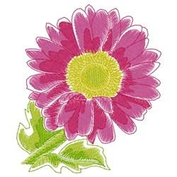 Gerbera Daisy embroidery design