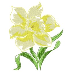 Daffodil embroidery design