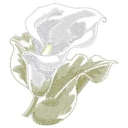 Calla Lily embroidery design