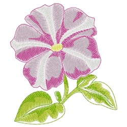 Petunia embroidery design