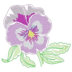 Pansy embroidery design