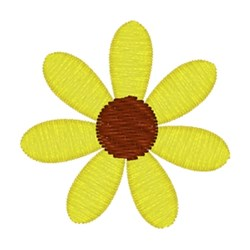 Yellow Daisy embroidery design
