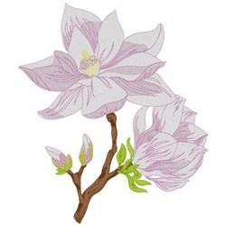 Magnolia Branch embroidery design