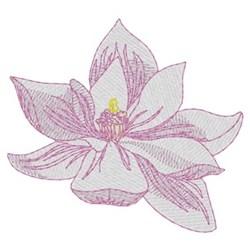 Small Magnolia embroidery design