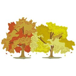 Fall Trees embroidery design