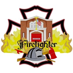 Firehouse Firefighter embroidery design