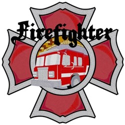 Firefighter Maltese Cross embroidery design