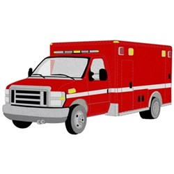 Paramedic Truck embroidery design