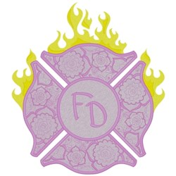 Purple Maltese Cross embroidery design