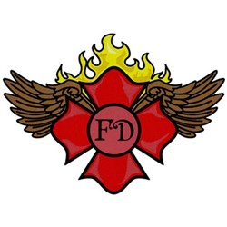 Maltese Cross With Wings embroidery design