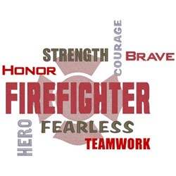Firefighter Words embroidery design