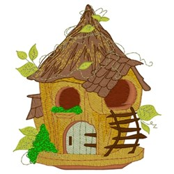 Forest Birdhouse embroidery design