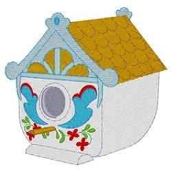 Norwegian Birdhouse embroidery design