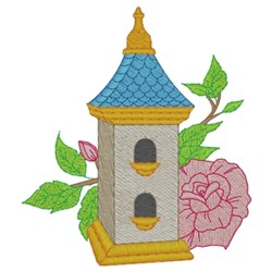 Steepled Birdhouse embroidery design