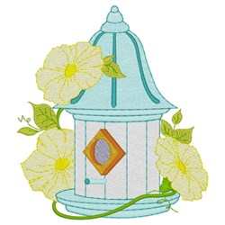 Birdhouse W / Flowers embroidery design