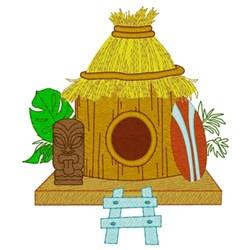 Tiki Hut Birdhouse embroidery design