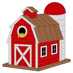 Barn Birdhouse embroidery design