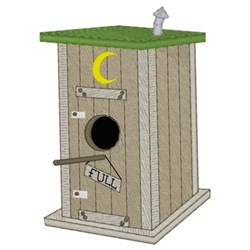 Outhouse Birdhouse embroidery design