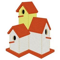 Multiple Birdhouses embroidery design