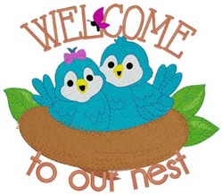 Welcome Birds embroidery design