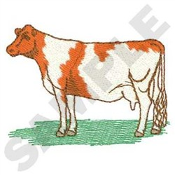 Guernsey Cow embroidery design