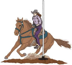 Pole Bending embroidery design