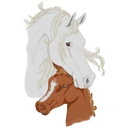 Mare and Foal embroidery design
