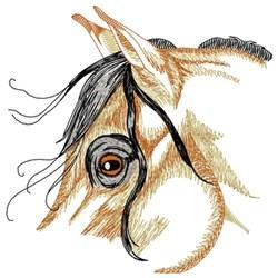 Arabian Horse Eye embroidery design