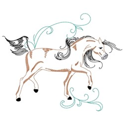 Galloping Arabian Horse embroidery design
