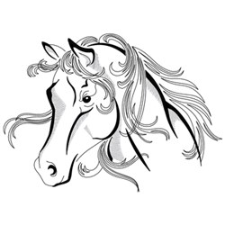 Arabian Head Outline embroidery design