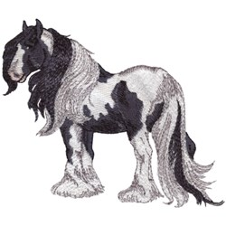Gypsy Vanner embroidery design