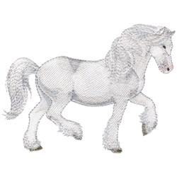 White Shire embroidery design
