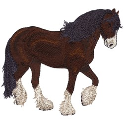 Shire Horse embroidery design