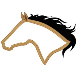 Horse Head Applique embroidery design