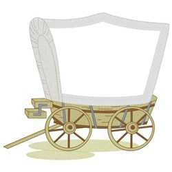 Covered Wagon Applique embroidery design