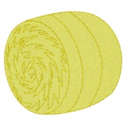 Round Bale embroidery design