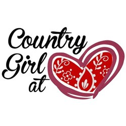 Country Girl At Heart embroidery design