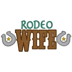 Rodeo Wife embroidery design