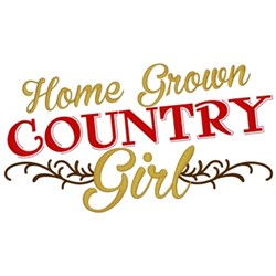 Home Grown Country Girl embroidery design