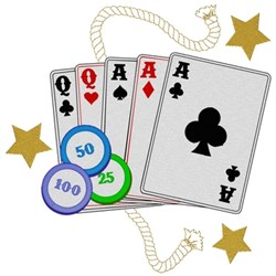 Playing Cards embroidery design