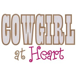 Cowgirl At Heart embroidery design