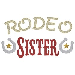 Rodeo Sister embroidery design