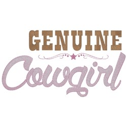Genuine Cowgirl embroidery design