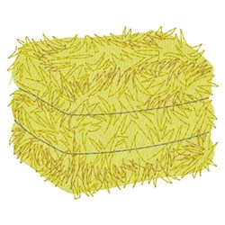 Square Hay Bale embroidery design